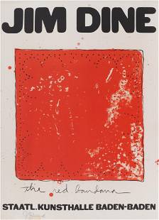 Jim Dine ''The Red Bandana'' 1971 Signed Lithograph