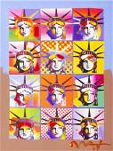 Peter Max ''Liberty and Justice For All II'' Mixed