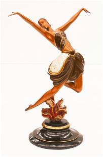 Erte ''La Danseuse'' 1985 Bronze Sculpture