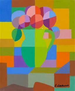 Emile Lahner ''Nature Morte, Abstraite'' 1976 Oil