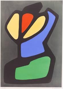Emile Lahner ''Untitled Form'' Color Lithograph