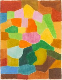 Emile Lahner ''Composition II'' 1974 Oil Pastel