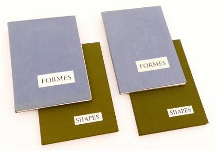 4pc Emile Lahner ''Formes and Shapes'' Print Portfolio