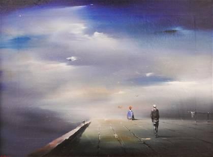 Robert Watson ''Quiet Place'' 1950 Oil on Canvas
