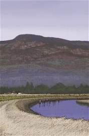 Richard Gilkey ''Samish Landscape'' 1996 Oil on Line