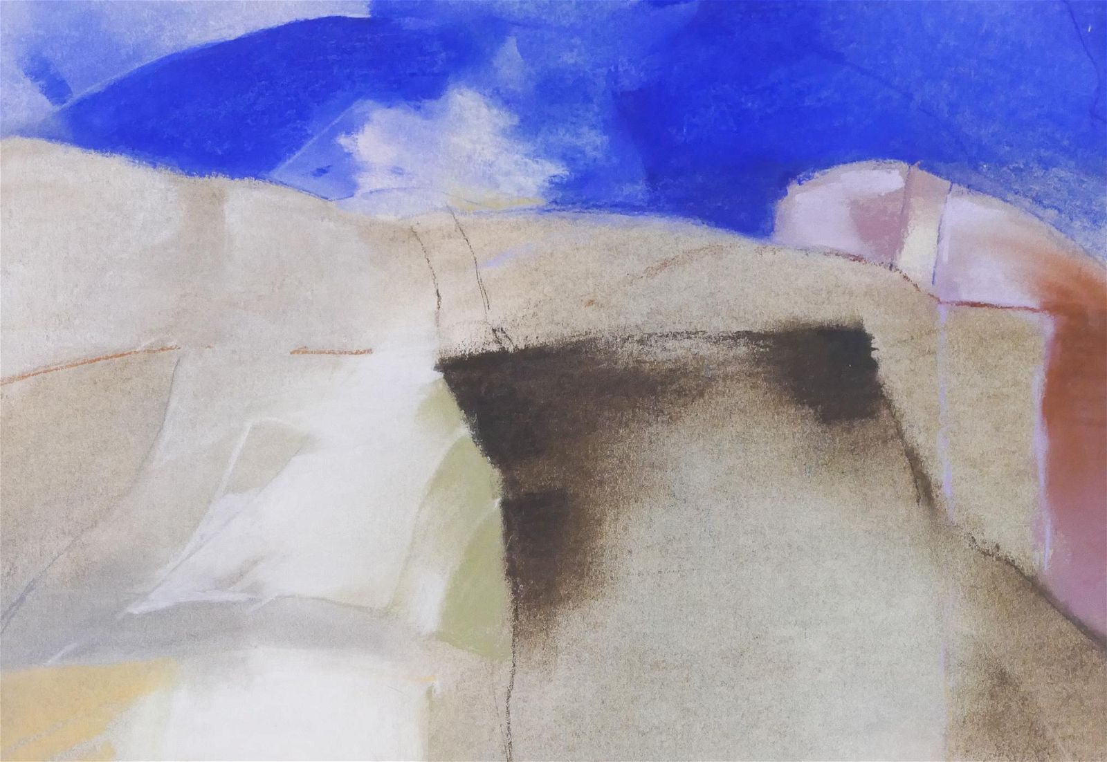 Max Benjamin ''Untitled'' 1979 Pastel on Paper