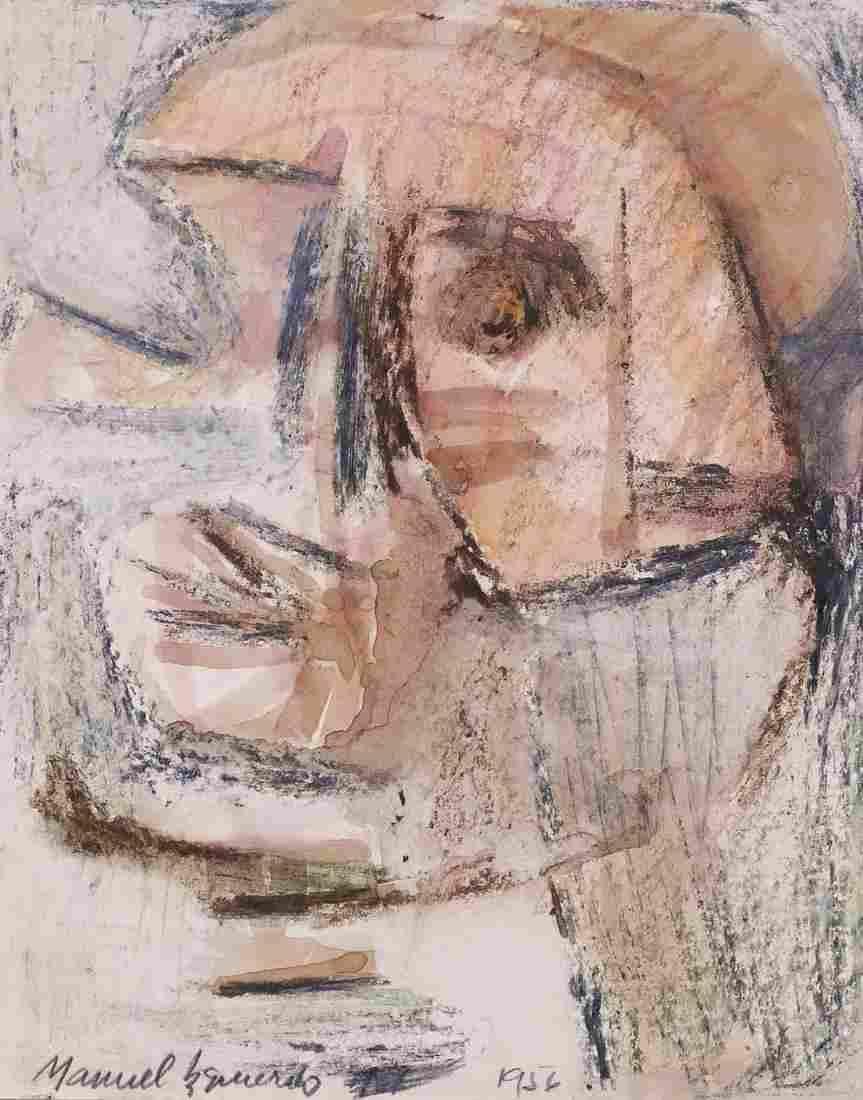 Manuel Izquierdo ''Facial Fragments'' 1956 Mixed Media