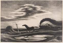 Thomas Hart Benton ''Homeward Bound'' (The Race) 1942