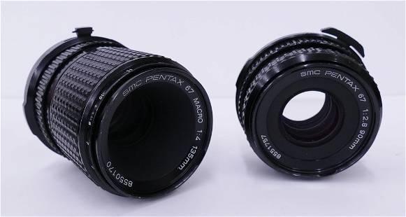 2pc SMC Pentax 67 Camera Lenses- Macro 135mm, 90mm