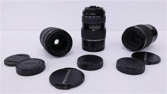 3pc SMC Pentax 645 Camera Lenses- Macro & Zoom