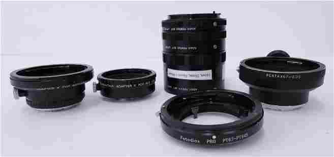5pc Pentax Lens Adapters and Extension Set