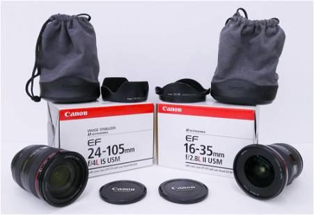 2pc Canon EF Zoom Camera Lenses