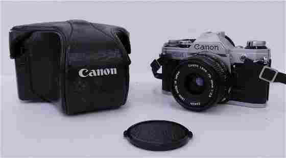 Canon AE-1 35mm Film Camera w/ 35mm f2.8 Lens