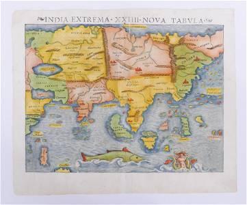 (ASIA) Sebastian Munster, 'India Extrema'. 1550