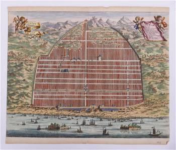 Pieter van Der Aa, 'Kanton' City View 1670
