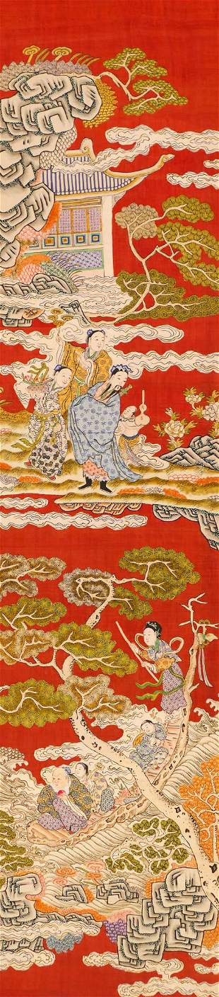 Chinese Qing Kesi Silk Embroidered Scroll