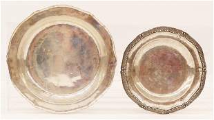 2pc Spanish Colonial Silver Plates