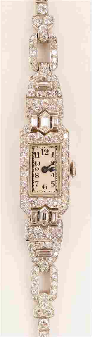 Lady's Patek Philippe Platinum & Diamond Band