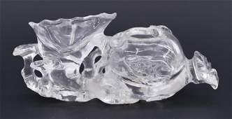 Chinese Qing Rock Crystal Lingzhi Brush Washer