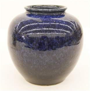 Chinese Qing Blue Flambe Vase