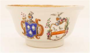 Chinese Export Double Armorial Tea Bowl