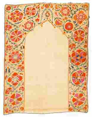 Antique Suzani Uzbekistan Prayer Embroidery