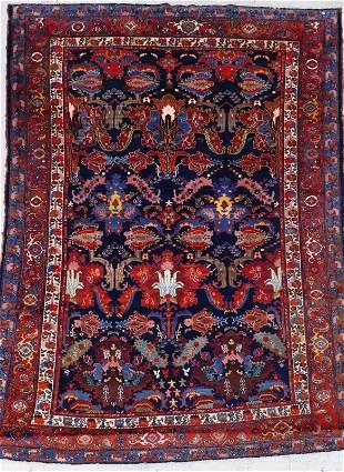 Antique Persian Floral Oriental Rug