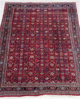 Semi Antique Persian Bijar Oriental Rug