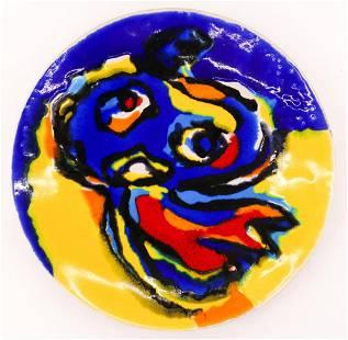 Karel Appel ''Ubu Two'' 1967 Ceramic Charger