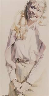 Linda Obermoeller ''Jennifer'' Watercolor