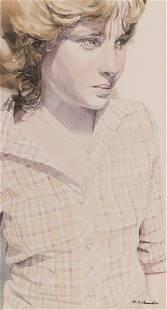 Linda Obermoeller ''Carol'' Watercolor