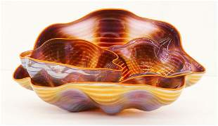 Dale Chihuly ''Golden Seaform 3-Piece Set'' 1992