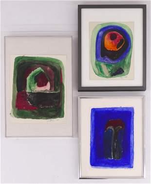 3pc Pehr Hallsten ''Landscapes'' 1965 Watercolors