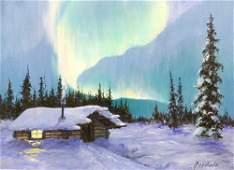 Harvey Goodale ''The Northern Lights'' Oil