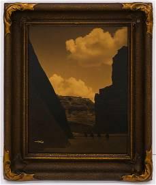 Edward Curtis ''Canyon del Muerto'' 1906 Orotone