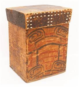 Antique Tsimshian Bentwood Storage Box