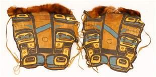 Pair Old Northwest Coast Dance Leggings