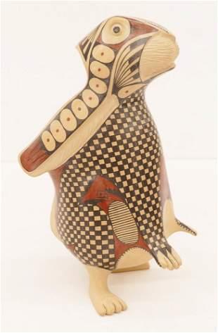 Nicolas Ortiz Pottery Rabbit Effigy