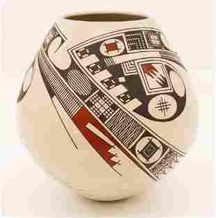 Juan Quezada Polychrome Pottery Jar