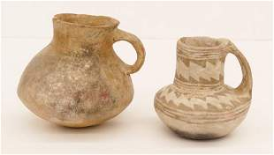 2pc Ancient Anasazi Pottery Vessels