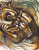 Gary Ratushniak ''Bear Totem'' 1976 Mixed Media