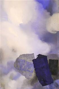 """Emily Hall Morse """"Clouds"""" Collage on Canvas"""