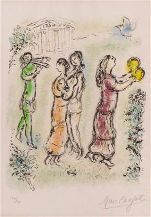 Marc Chagall ''The Festival'' 1975 Signed Lithograph