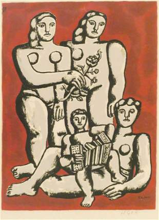 After Fernand Leger ''Accordioniste's Family'' 1950