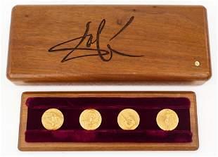 Salvador Dali ''Four Seasons'' 18k Gold Medal Set