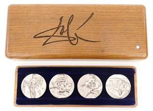 Salvador Dali ''Four Seasons'' Silver Medal Set