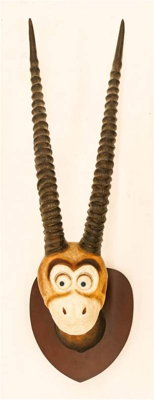 Dr. Seuss ''Two Horned Drouberhannis'' Taxidermy