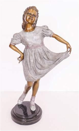 Howard Jason ''Little Miss'' 2000 Bronze Sculpture