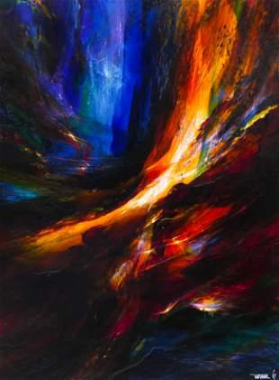 Leonardo Nierman ''Cosmic Fury'' 1967 Oil