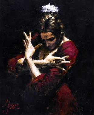 Fabian Perez ''Red Velvet'' Acrylic on Canvas